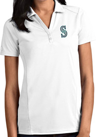 Seattle Mariners Womens Antigua Tribute Polo Shirt - White