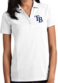 Tampa Bay Rays Womens Antigua Tribute Polo Shirt - White