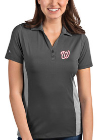 Antigua Washington Nationals Womens Grey Venture Polo