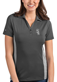 Chicago White Sox Womens Antigua Venture Polo Shirt - Grey