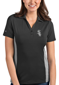 Chicago White Sox Womens Antigua Venture Polo Shirt - Black