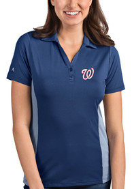 Antigua Washington Nationals Womens Navy Blue Venture Polo