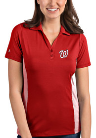 Antigua Washington Nationals Womens Red Venture Polo