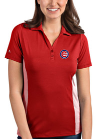 Antigua Chicago Cubs Womens Red Venture Polo