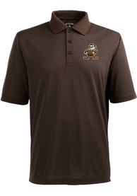 Antigua Cleveland Browns Brown Pique Short Sleeve Polo Shirt