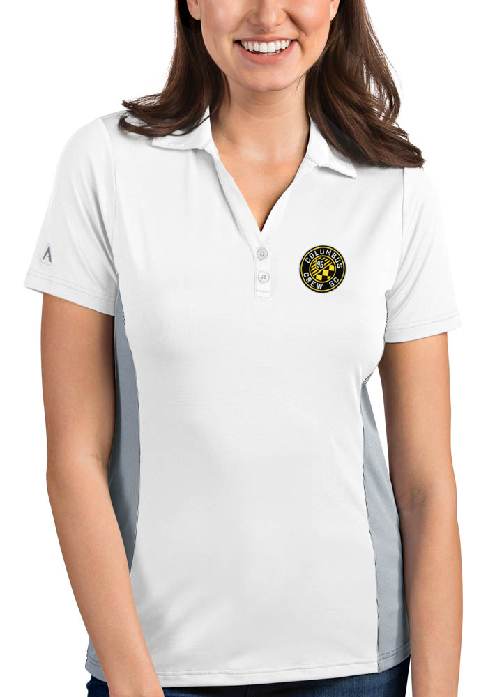 Antigua Columbus Crew Womens White Venture Short Sleeve Polo Shirt - Image 1