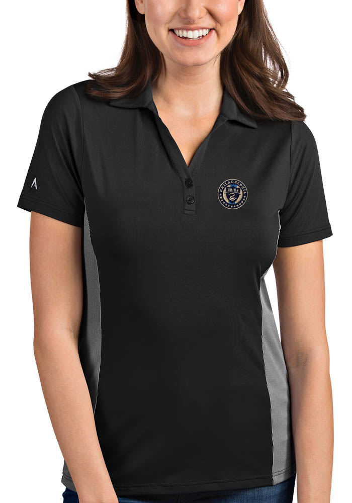 Antigua Philadelphia Union Womens Grey Venture Short Sleeve Polo Shirt - Image 1
