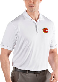 Calgary Flames Antigua Salute Polo Shirt - White