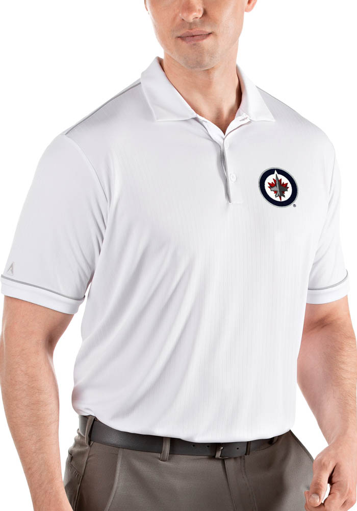 Antigua Winnipeg Jets Mens White Salute Short Sleeve Polo - Image 1