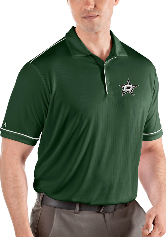 Dallas Stars Mens Green Salute Short Sleeve Polo - Image 1