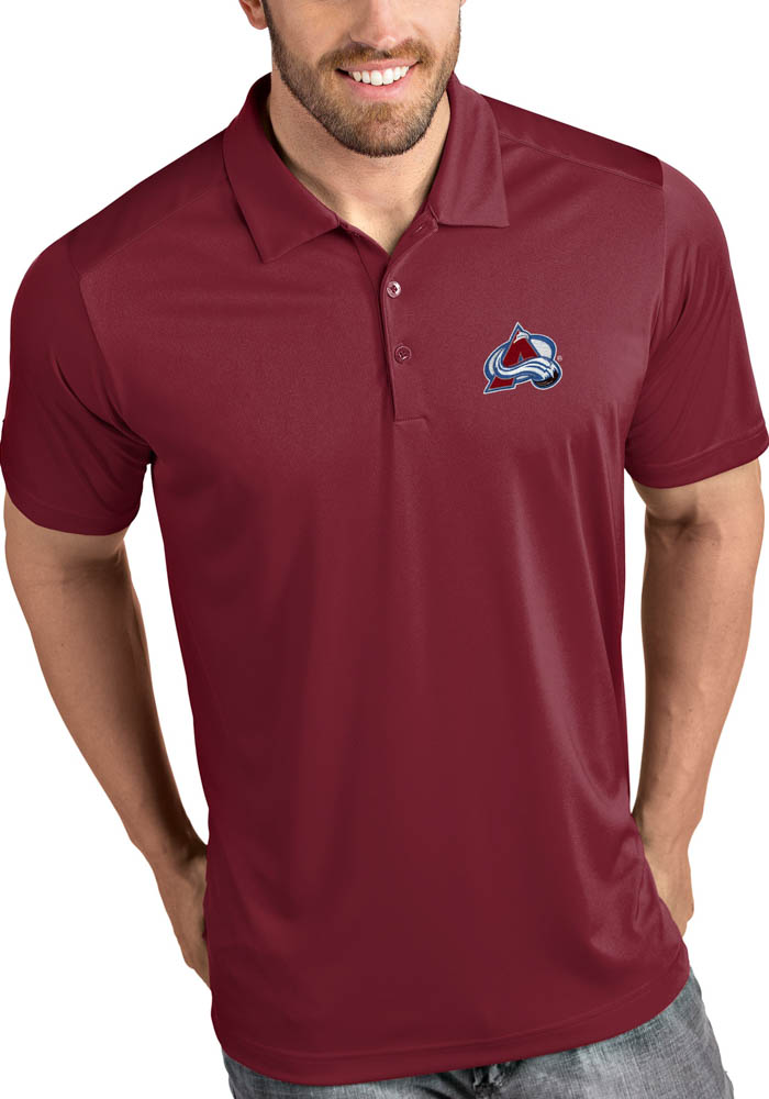 Antigua Colorado Avalanche Mens Red Tribute Short Sleeve Polo - Image 1