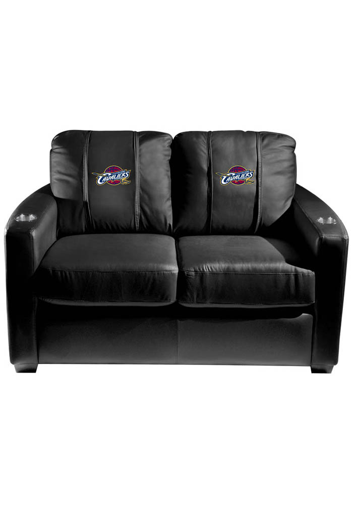 Cleveland Cavaliers NBA Silver Loveseat Love Seat - Image 1