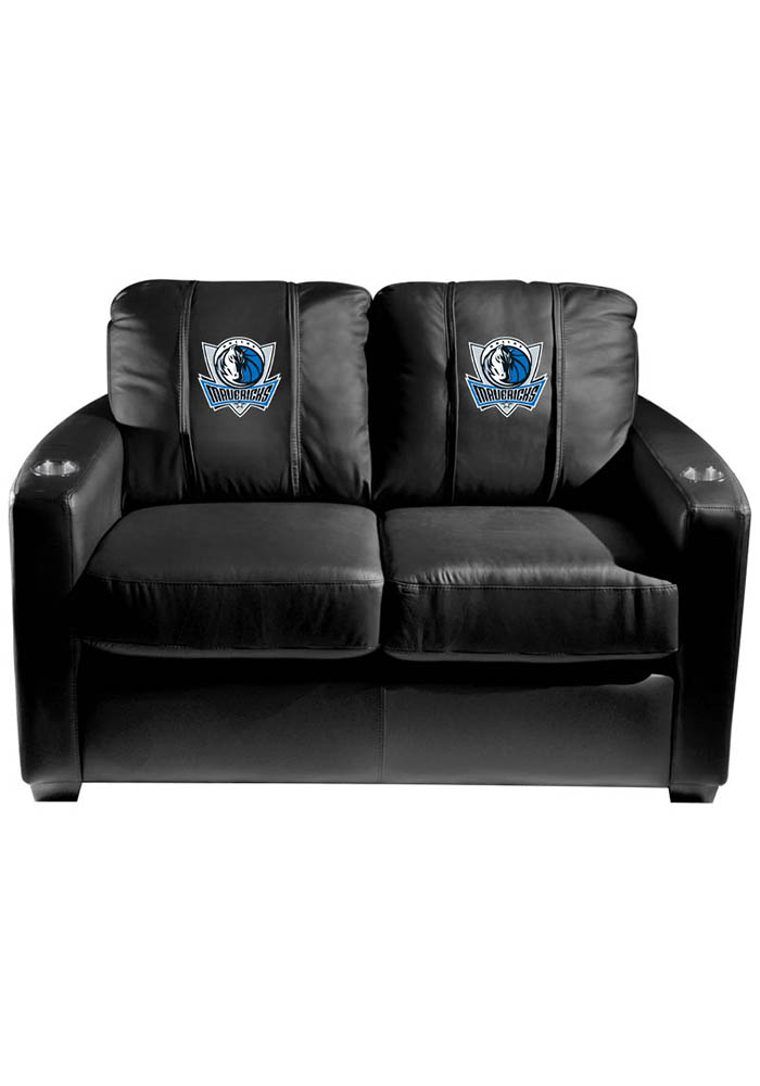 Dallas Mavericks NBA Silver Loveseat Love Seat - Image 1