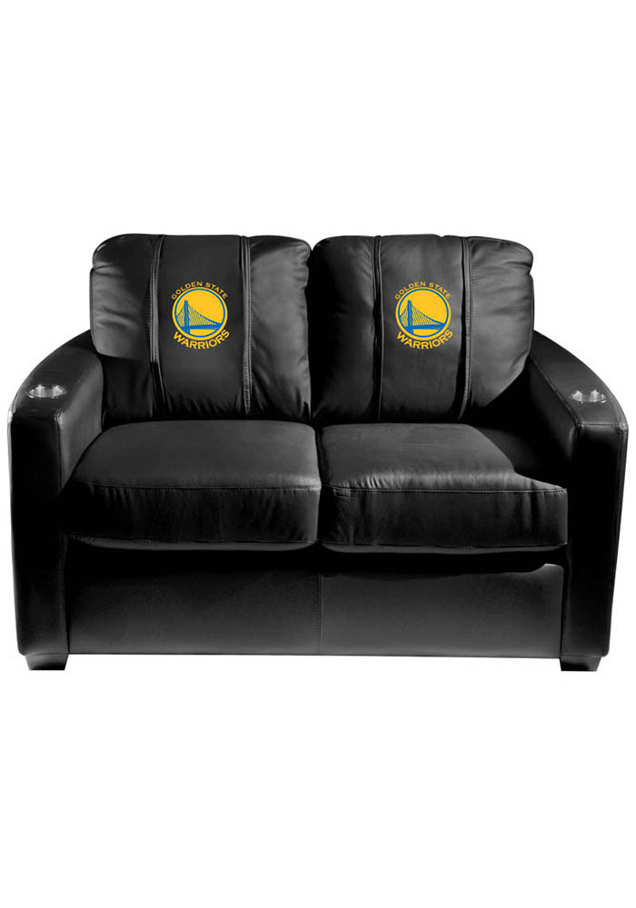 Golden State Warriors NBA Silver Loveseat Love Seat - Image 1