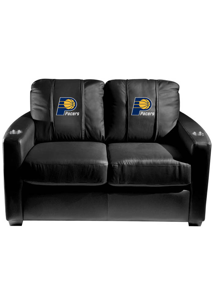 Indiana Pacers NBA Silver Loveseat Love Seat - Image 1