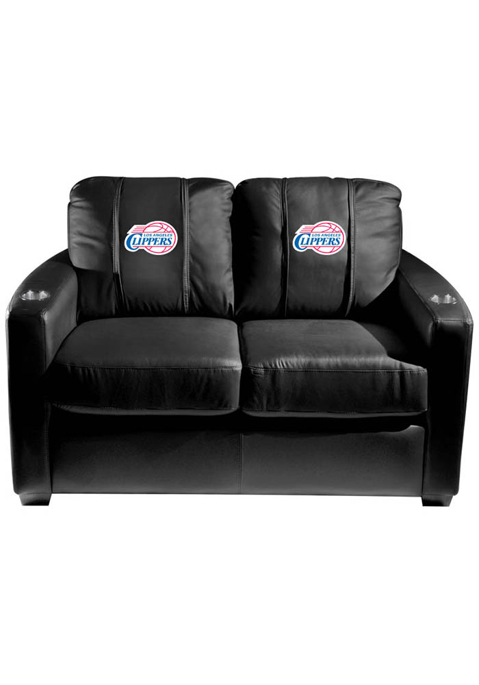 Los Angeles Clippers NBA Silver Loveseat Love Seat - Image 1