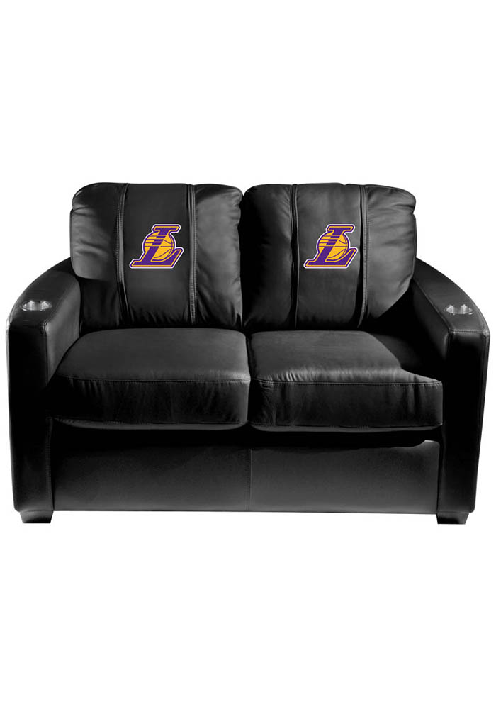 Los Angeles Lakers NBA Silver Loveseat Love Seat - Image 1