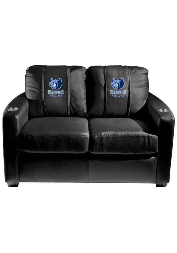 Memphis Grizzlies NBA Silver Loveseat Love Seat - Image 1