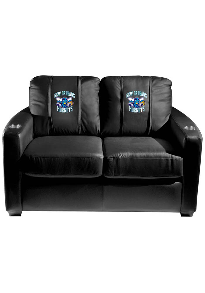 New Orleans Pelicans NBA Silver Loveseat Love Seat - Image 1