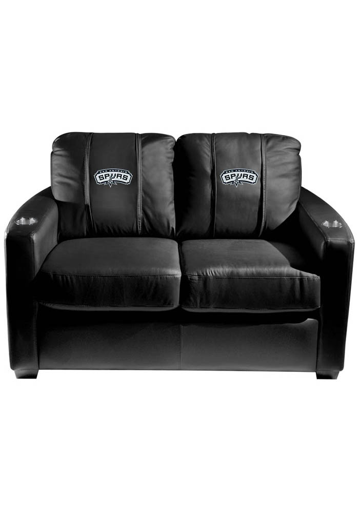 San Antonio Spurs NBA Silver Loveseat Love Seat - Image 1