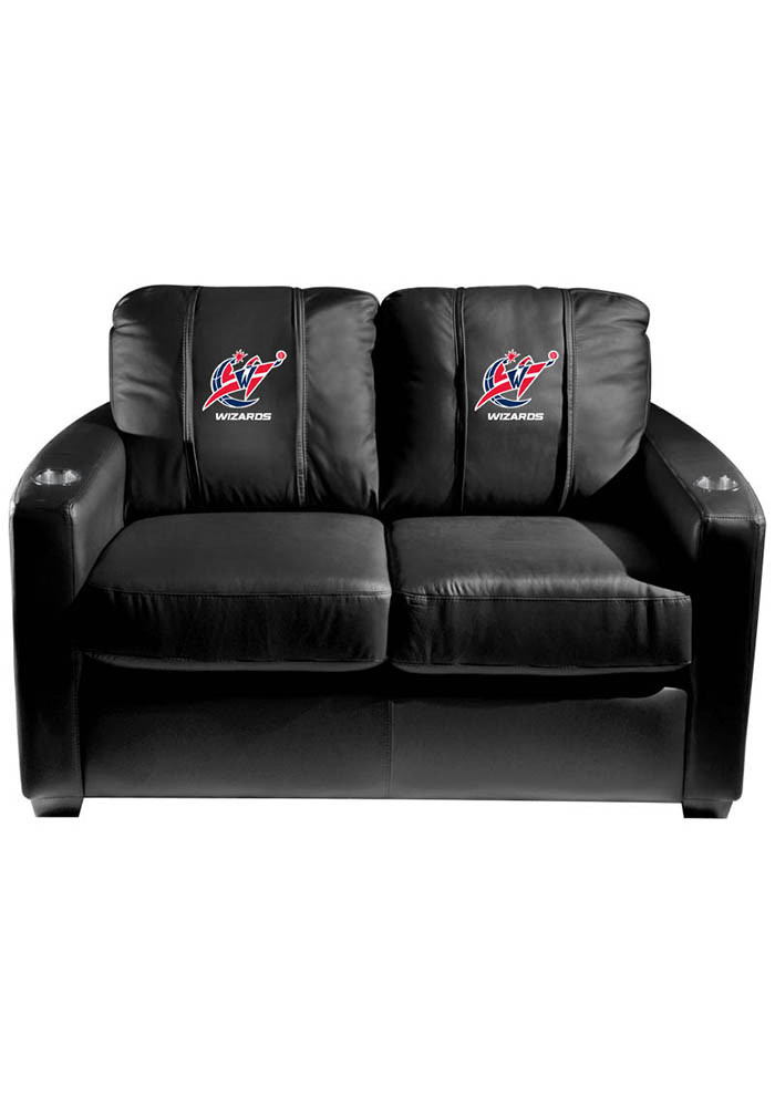 Washington Wizards NBA Silver Loveseat Love Seat - Image 1