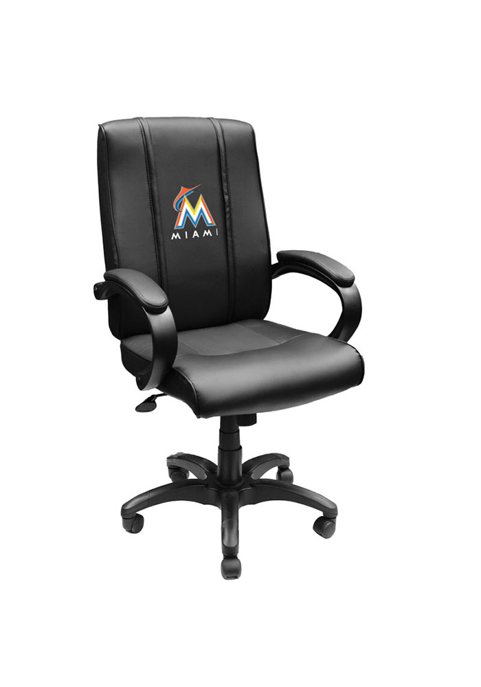 Miami Marlins MLB Office Chair Desk Chair - Image 1