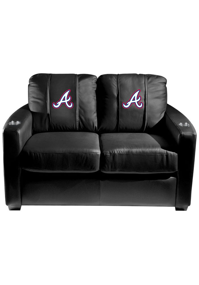Atlanta Braves MLB Silver Loveseat Love Seat - Image 1