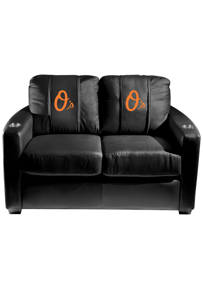Baltimore Orioles MLB Silver Loveseat Love Seat - Image 1