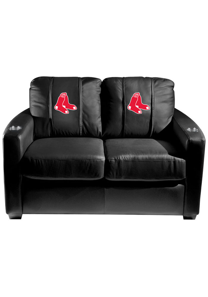 Boston Red Sox MLB Silver Loveseat Love Seat - Image 1