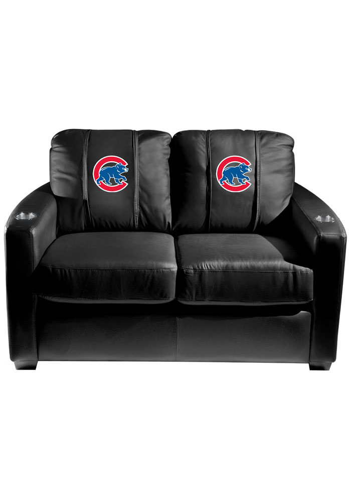 Chicago Cubs MLB Silver Loveseat Love Seat - Image 1