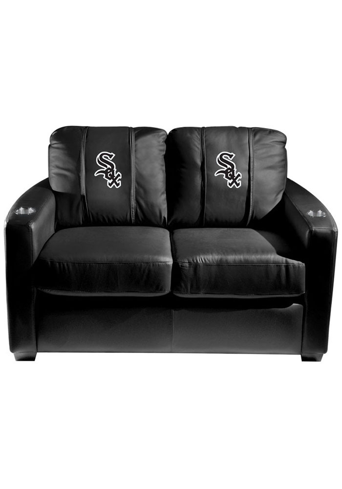 Chicago White Sox MLB Silver Loveseat Love Seat - Image 1