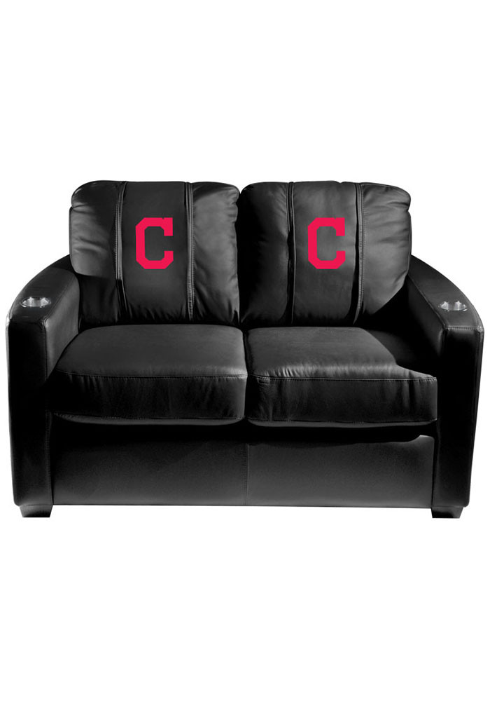 Cleveland Indians MLB Silver Loveseat Love Seat - Image 1