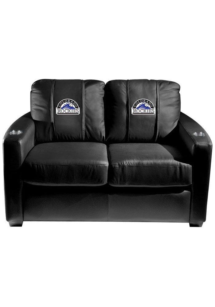 Colorado Rockies MLB Silver Loveseat Love Seat - Image 1