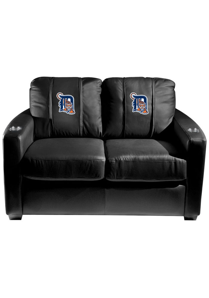 Detroit Tigers MLB Silver Loveseat Love Seat - Image 1