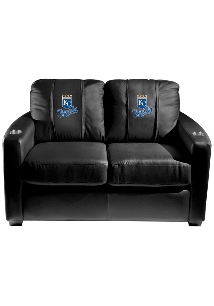 Kansas City Royals MLB Silver Loveseat Love Seat - Image 1