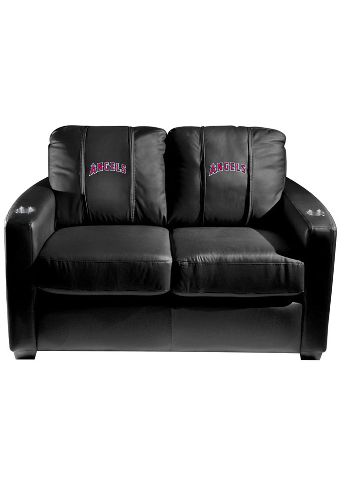 Los Angeles Angels MLB Silver Loveseat Love Seat - Image 1