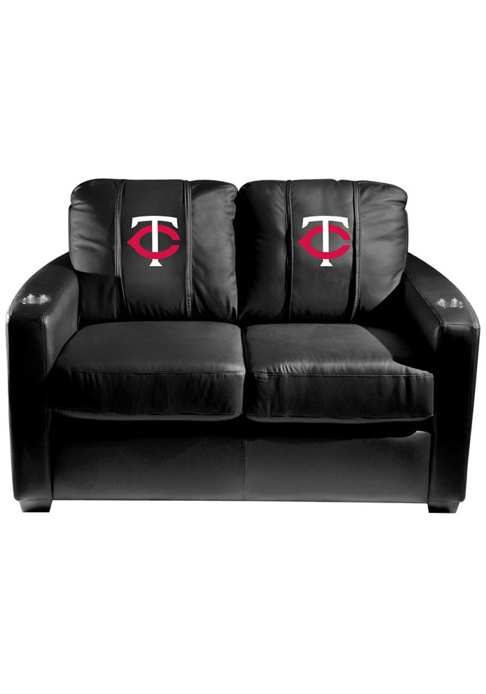 Minnesota Twins MLB Silver Loveseat Love Seat - Image 1
