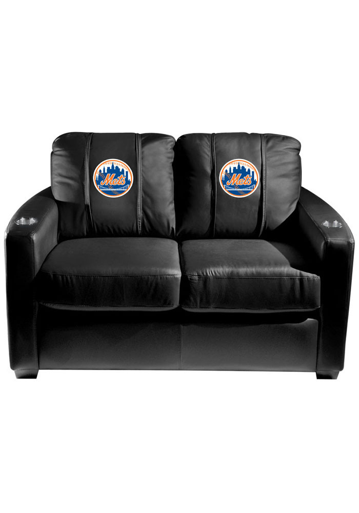 New York Mets MLB Silver Loveseat Love Seat - Image 1