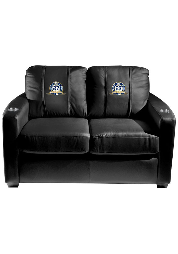 New York Yankees MLB Silver Loveseat Love Seat - Image 1