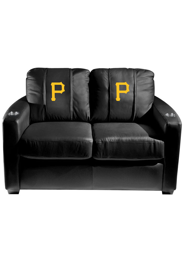 Pittsburgh Pirates MLB Silver Loveseat Love Seat - Image 1