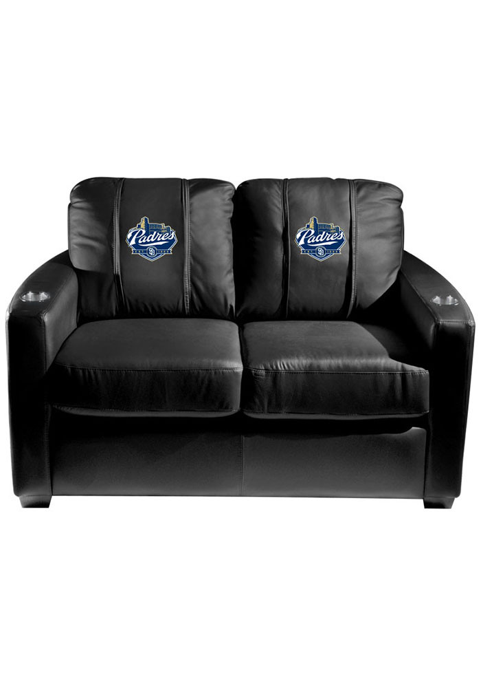 San Diego Padres MLB Silver Loveseat Love Seat - Image 1