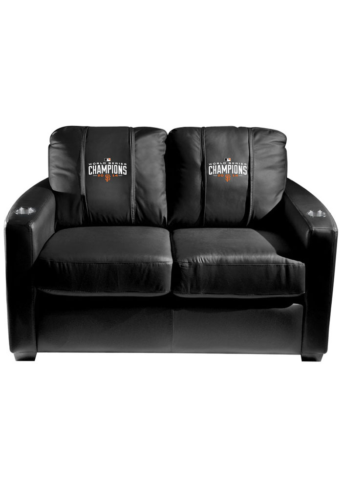 San Francisco Giants MLB Silver Loveseat Love Seat - Image 1