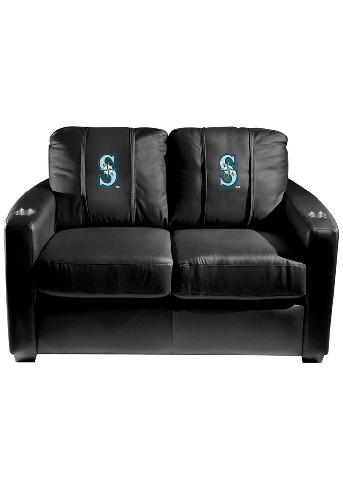 Seattle Mariners MLB Silver Loveseat Love Seat - Image 1