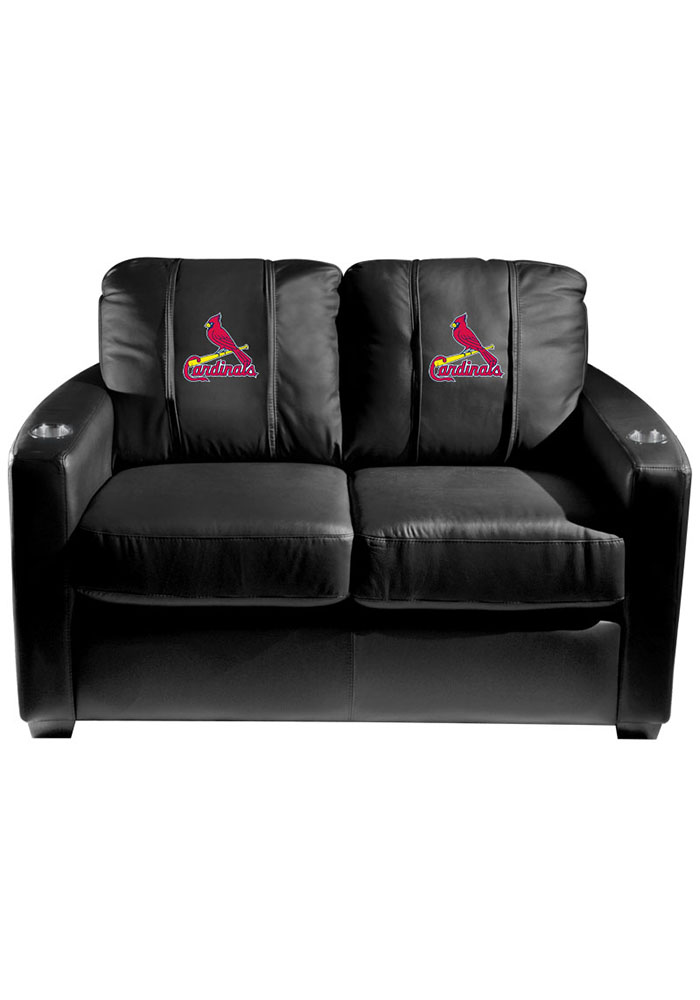 St Louis Cardinals MLB Silver Loveseat Love Seat - Image 1