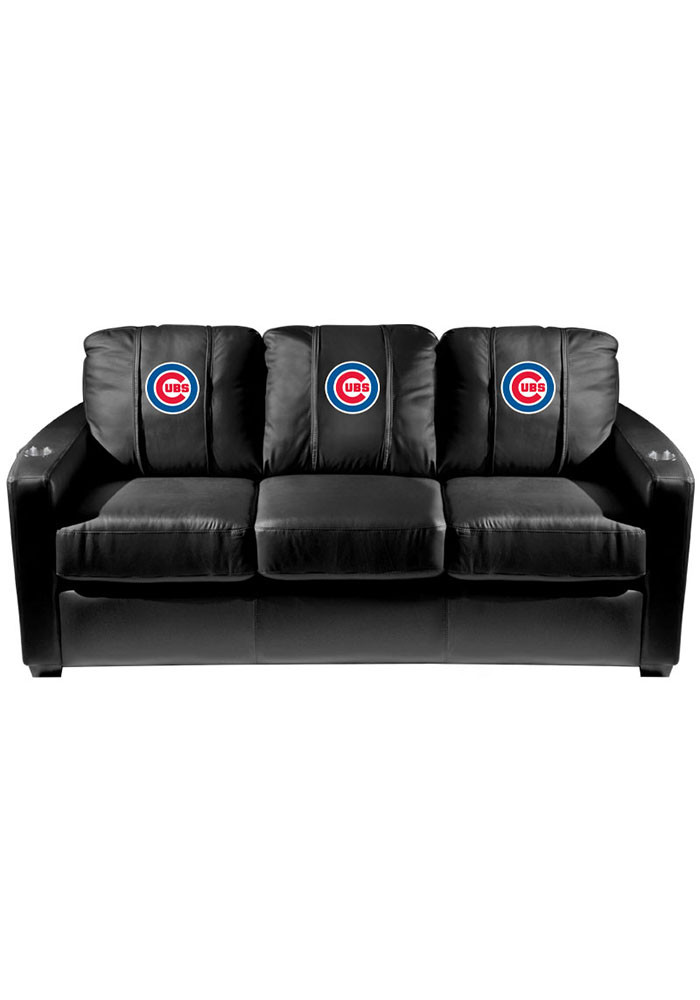 Chicago Cubs MLB Silver Sofa Sofa - Image 1