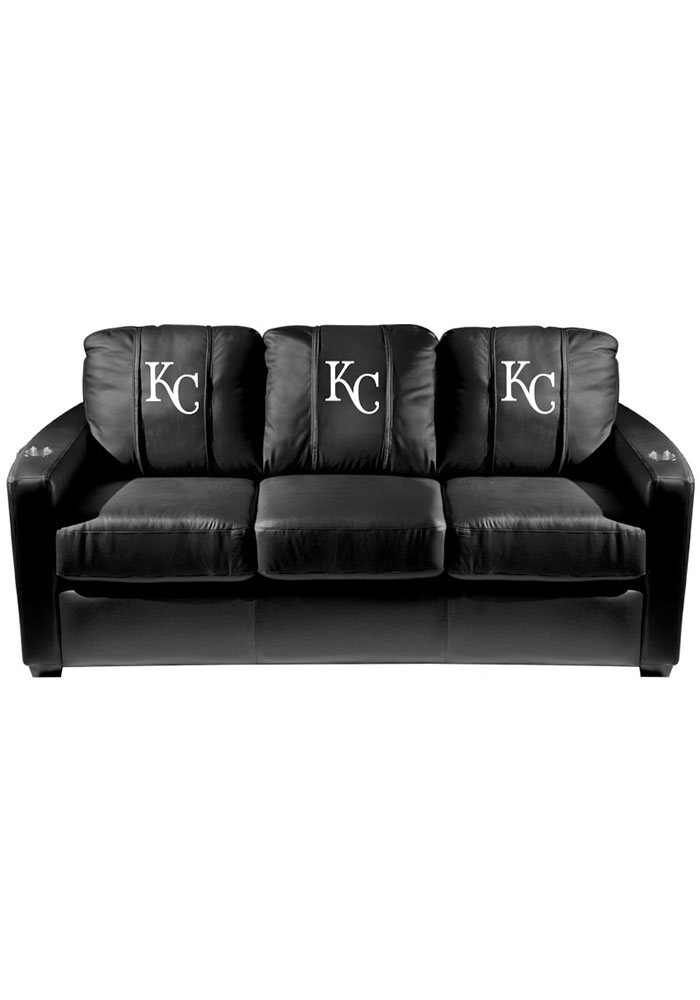 Kansas City Royals MLB Silver Sofa Sofa - Image 1