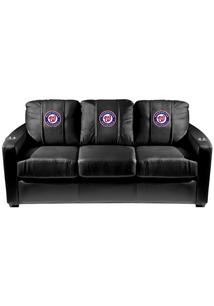 Washington Nationals MLB Silver Sofa Sofa - Image 1