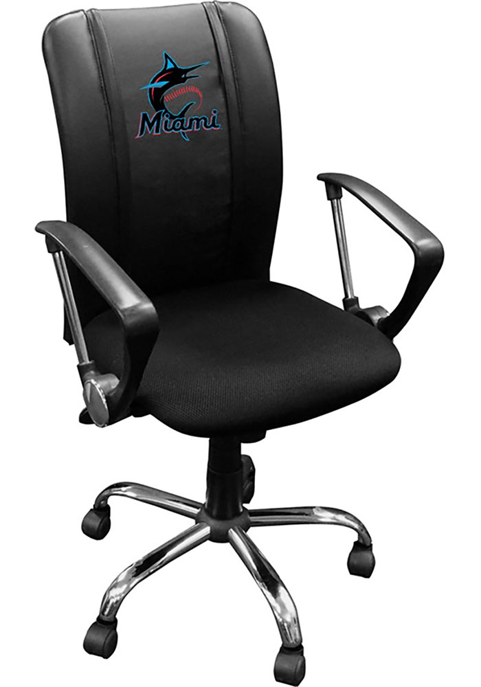 Miami Marlins Curve Desk Chair - Image 1