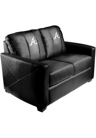 Atlanta Braves Faux Leather Love Seat