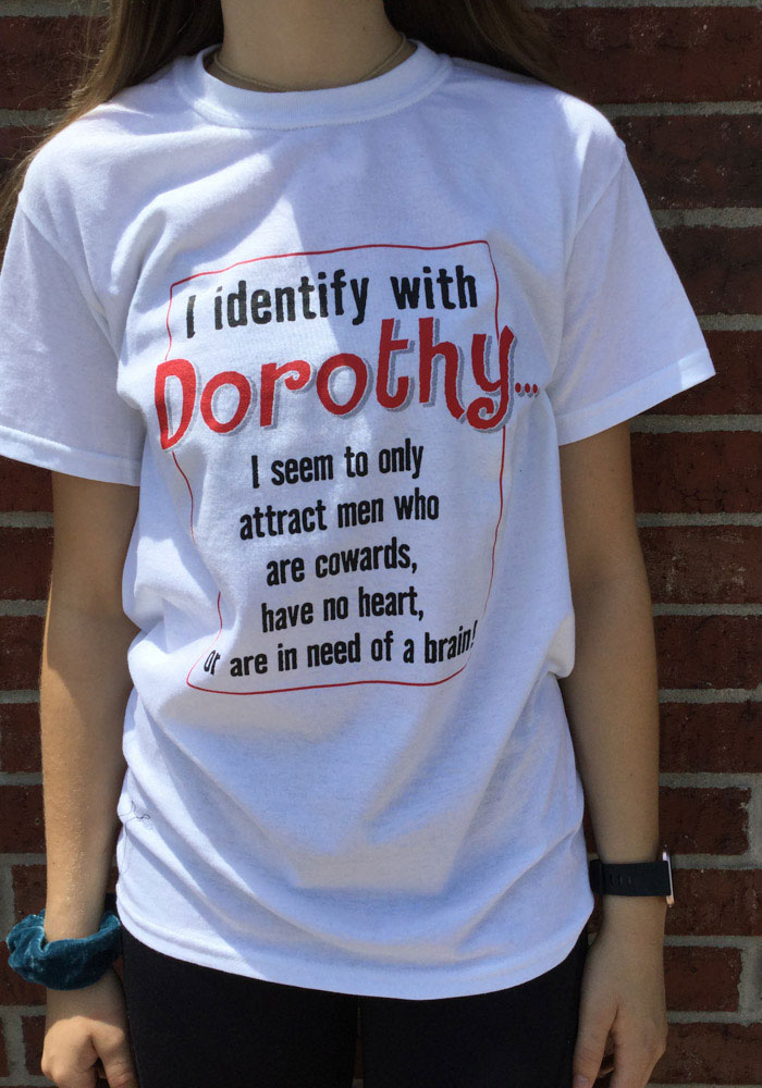 Wizard of Oz Womens White Identify With Dorothy Short Sleeve T Shirt - Image 2